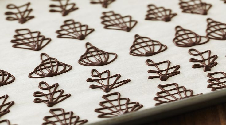 Bake With Anna Olson: Recipes: Piped Chocolate Garnishes | Asian Food Channel