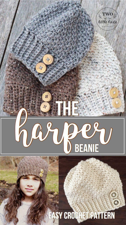 Crochet Pattern Crochet Hat Pattern Crochet Beanie Pattern Hat