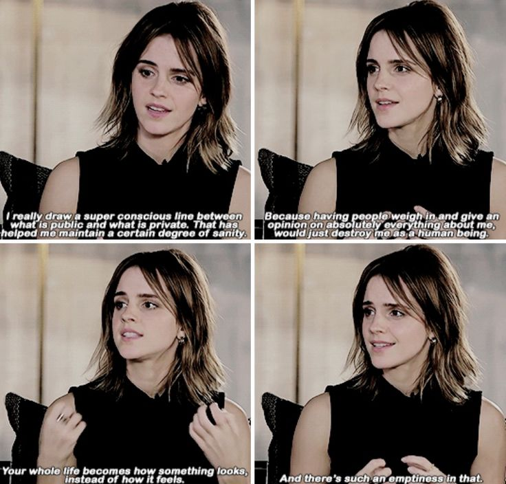 Emma Watson on social media