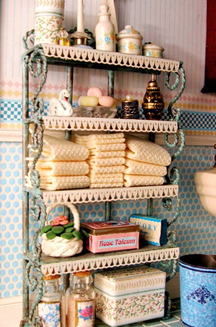 victorian dollhouse miniatures | Victorian Dollhouse Bedroom and Bathroom, 1:12 Scale Miniatures, Pt. 4