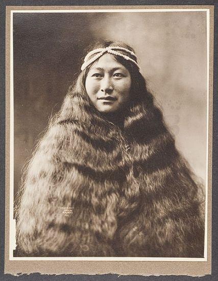 Beverly B. Dobbs photo of indigenous woman; Nome, Alaska Gold Rush ca. 1903