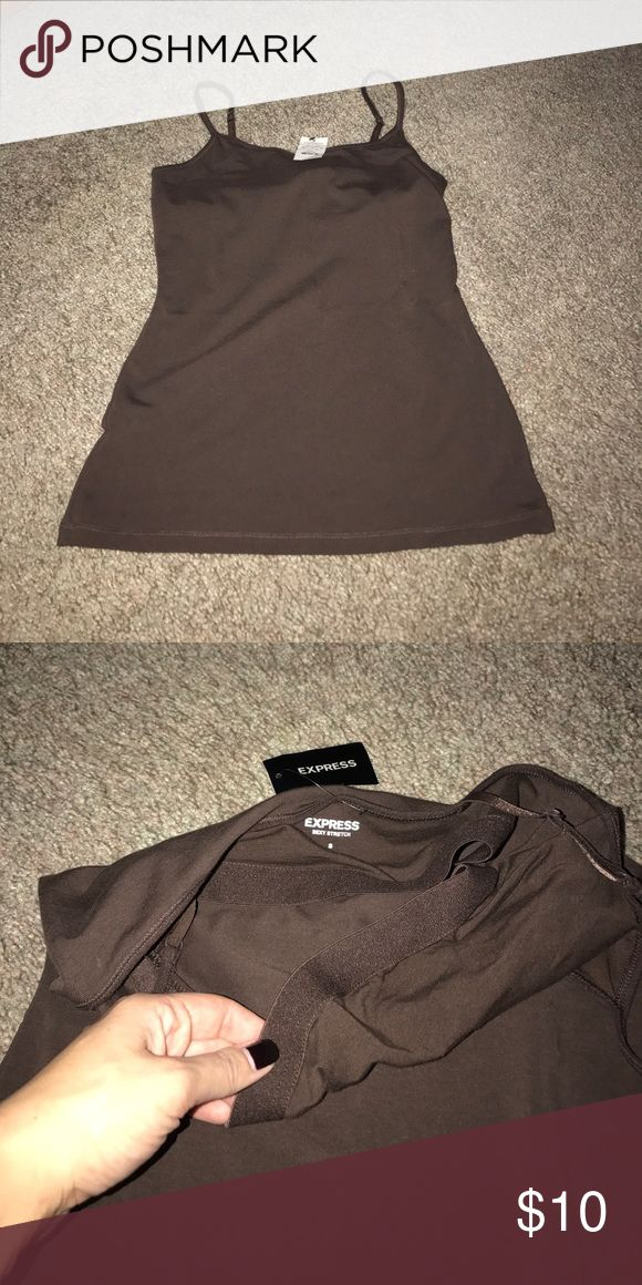 Shelf bra camisole NWT perfect condition ! Express camisole with shelf bra. Express Tops Tank Tops
