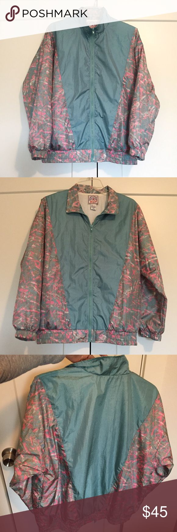 Rare Vintage Windbreaker Zip-Up Jacket Old school vintage lined jacket straight out of the 80's in excellent vintage condition. This is amazing and actually pretty warm for how light it is. Size is Petite medium, fits a small too just depends on desired fit :) No trades 💕 brand is called Sports Accent and outer material is nylon / lining is polyester and cotton. Vintage Jackets & Coats