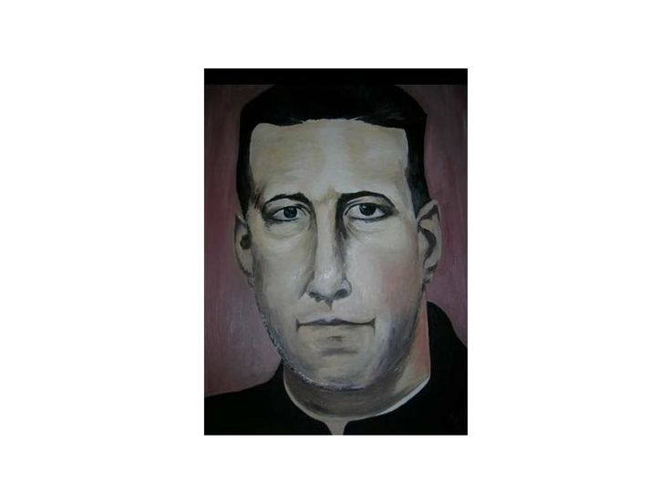 Padre Alberto Hurtado 45 cm x 55 cm Oil on Canvas ( Óleo sobre Tela)  http://www.heidisaigg.com/ Sold Out - Vendida