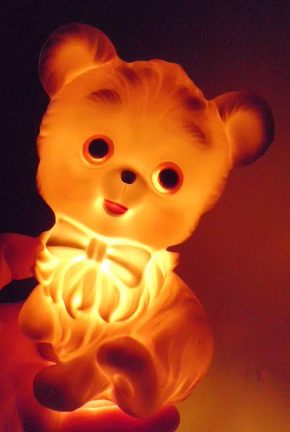 Vintage Josef Originals Teddy Bear Night Light Lamp Original
