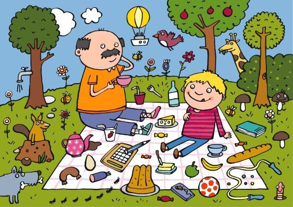 De picnic con Papá - Veo, veo...una cosita que empieza pour una S. ¿Qué es?