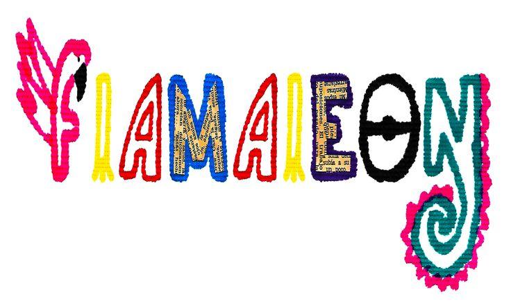 Flamaleon (servilleta - plumones - collage)