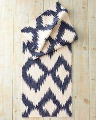 Ikat Flat-Weave Wool...Garnett Hill