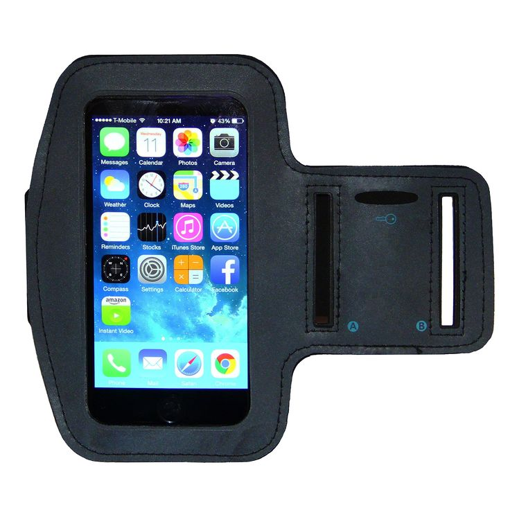 iPhone 6 6S Armband - Running & Exercise Sportband (4.7-inch) with Key Holder & Reflective Band (Black). COMPATIBILITY: Compatible with the iPhone 6/6S (4.7) inch - also fits the iPhone 5/5S/5c. USE: Full touch-screen control, easy access to ear phones and a slot for your house key. DESIGN: This armband is durable yet soft to the touch - Not thin like so many of the others. SIZE: Fits sizes from 9 to 15 inches - for larger arms please see our armband extender which is sold separately....