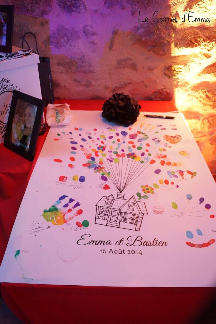 Mon avant dernier article Joli Jour :(Ce soir je vous montre la table qui a accueilli notre livre d'or, notre urne et notre maison à empreintes.Le livre d'