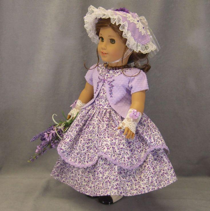$183.49 ~ SPRINGTIME IN THE SOUTH ~6 pc Lavender Civil War Dress SET by IDreamofJeanneMarie VIA eBay SOLD 2/19/17