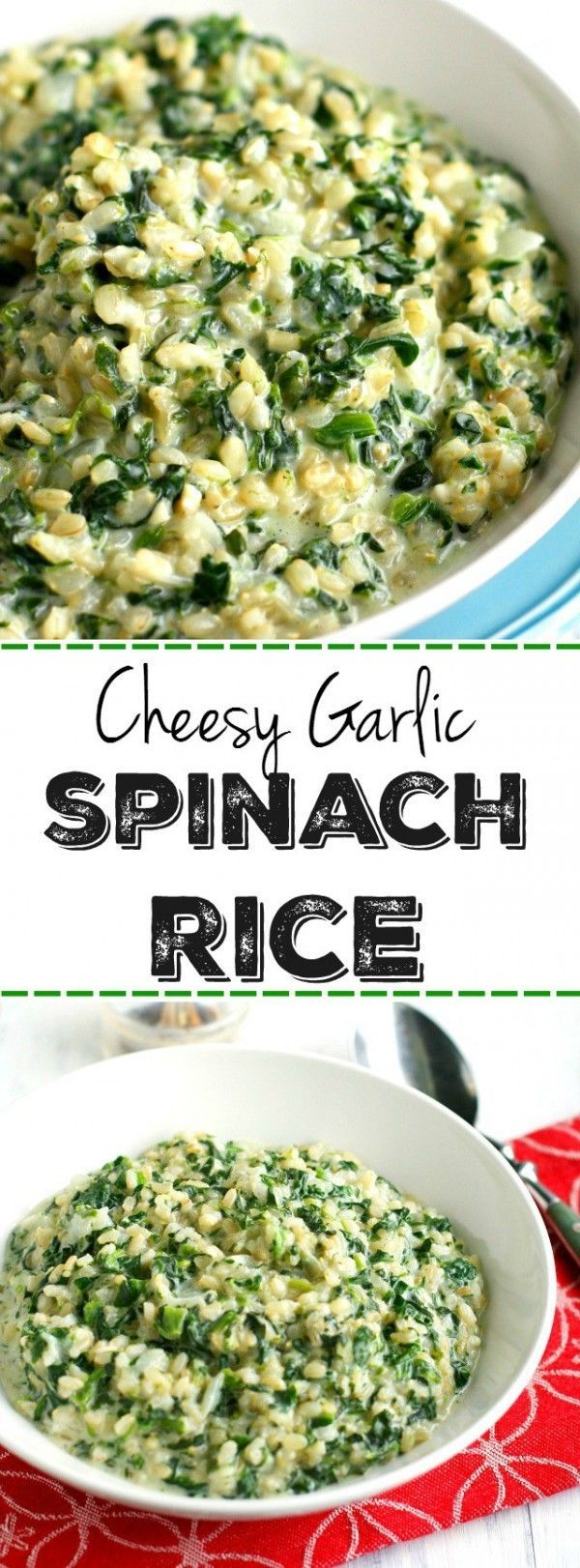 Get the recipe Cheese Garlic Spinach Rice @recipes_to_go