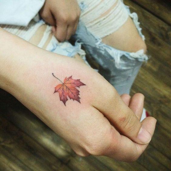 Resultado de imagen de hoja tattoo