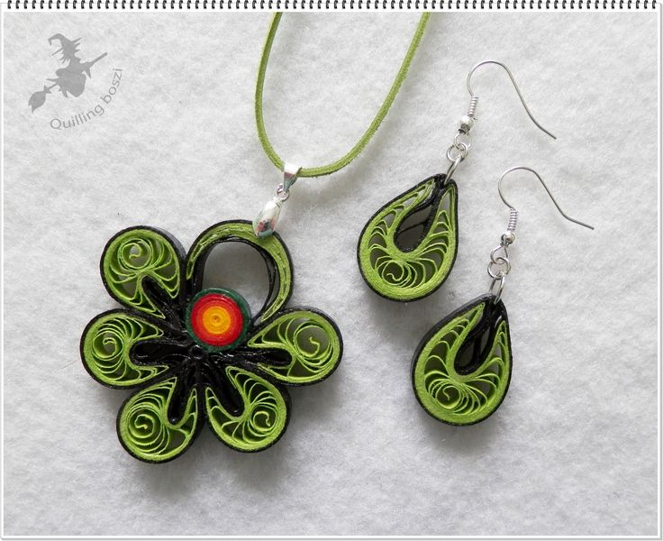 Quilling Earrings More Designs : 884 best Jewelry Quilled images on Pinterest Quilling jewelry, Quilling and Necklaces