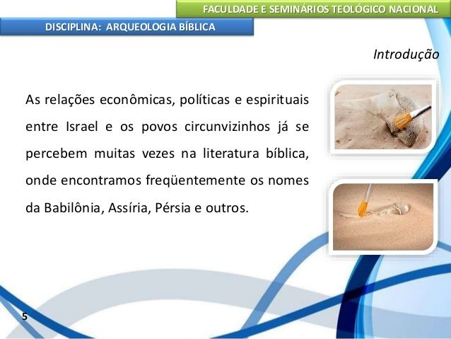 Disciplina de Arqueologia Bíblica