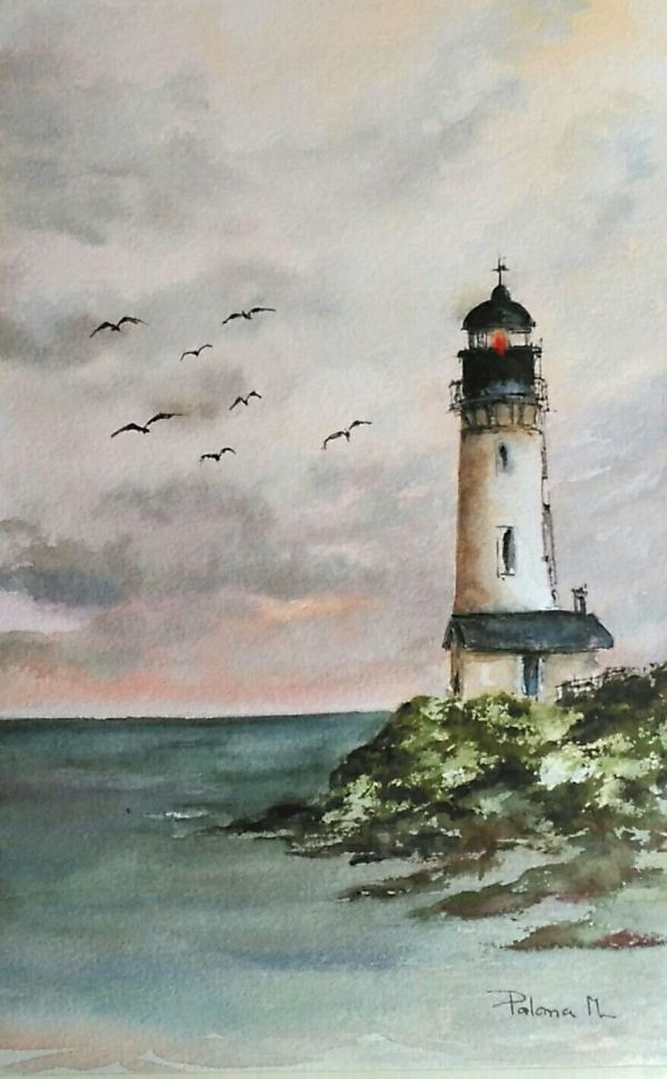 12 Captivating Drawing On Creativity Ideas In 2020 Watercolor Landscape Paintings Lighthouse Painting Watercolor Landscape