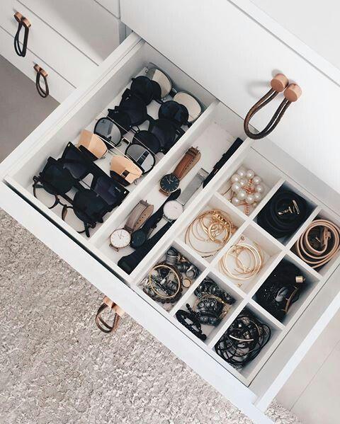 organized accessories drawer