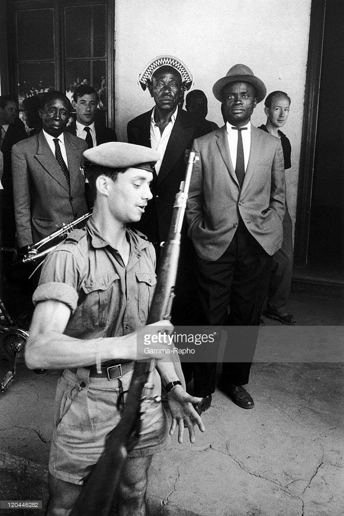 Independence agaisnt in Congo from 1960 to 1962 - Years of struggle for independence in Belgian Congo. Belgians gave arms to katangese civilians who asked the new government of Congo their independence. They were supported by Belgium and South Africa and were led by Moise TSHOMBE.