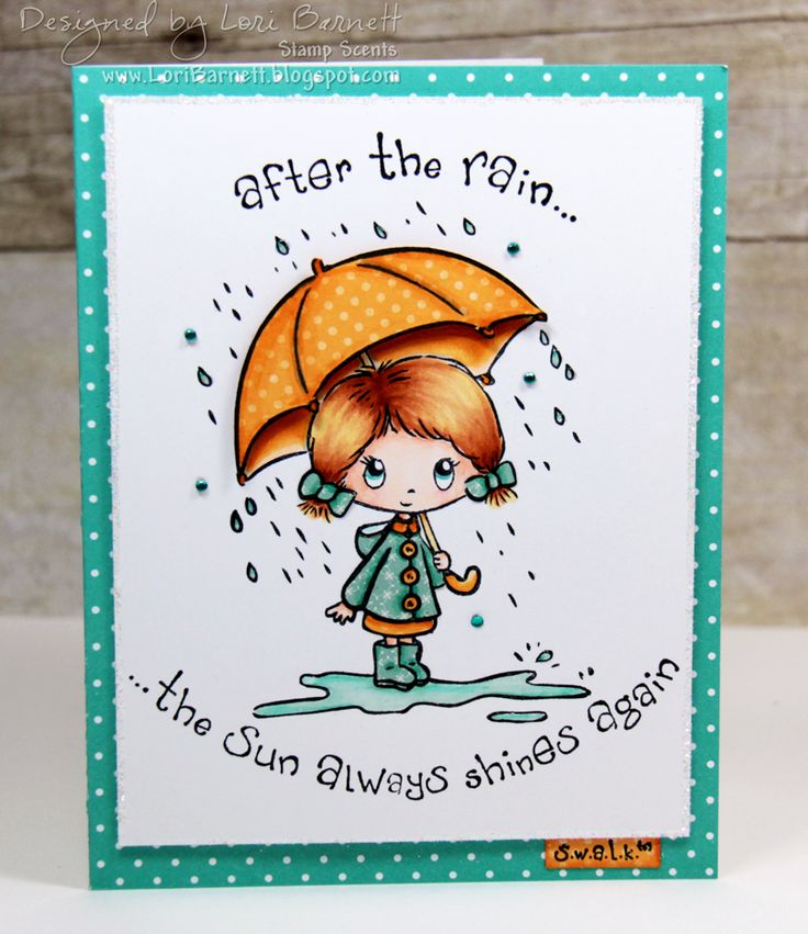 Designed by Lori Barnett. Stamps from Crafter's Companion S.W.A.L.K. collection - After the Rain set. Colored with Spectrum Noir markers BT2, BT4, IG2, GB1, GB2, GB3, GB5, FS2, FS3, CR2, TN3, TN5, TN7 @spectrumnoir