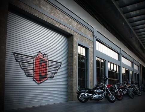 Gasolina's entrance, with custom #motorcycles in view #swpromenade #melbourne #italian