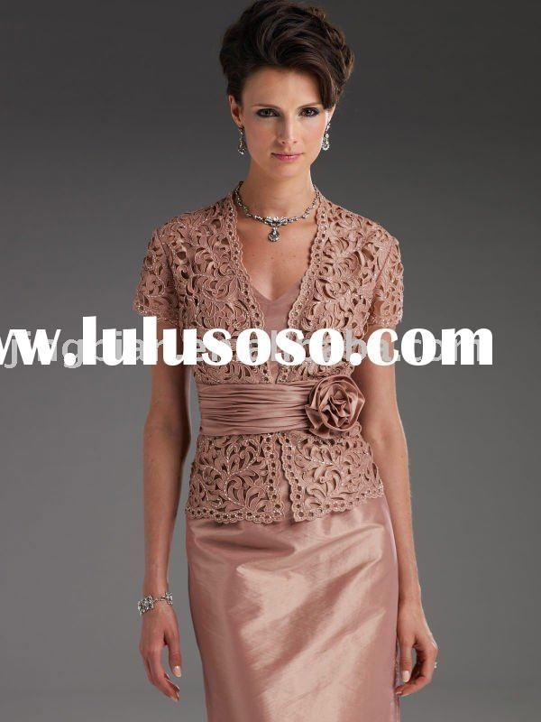 Image detail for -... Lace Appliqued Designer Mother of the Bride Dress Long Evening dre