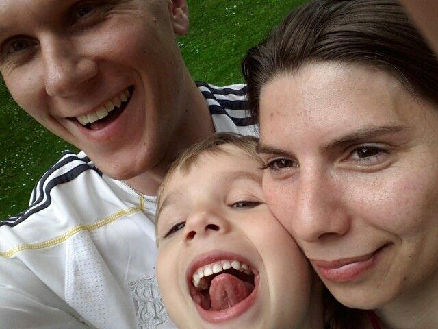 Rodzinnie w parku.