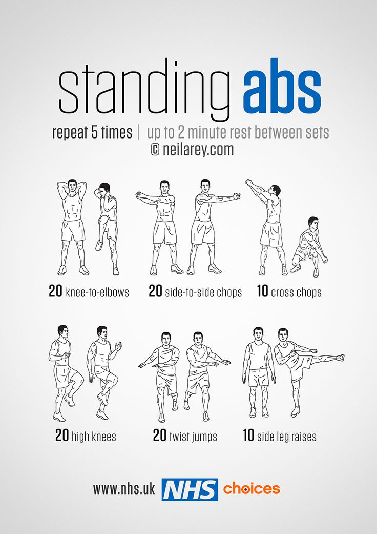 25 best ideas about standing abdominal exercises on for Floor exercises for abs