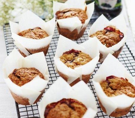 Streamline Blackcurrant Jam Breakfast Muffins