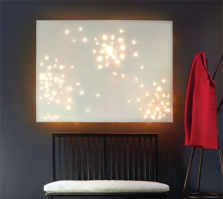 how to put lights in a canvas