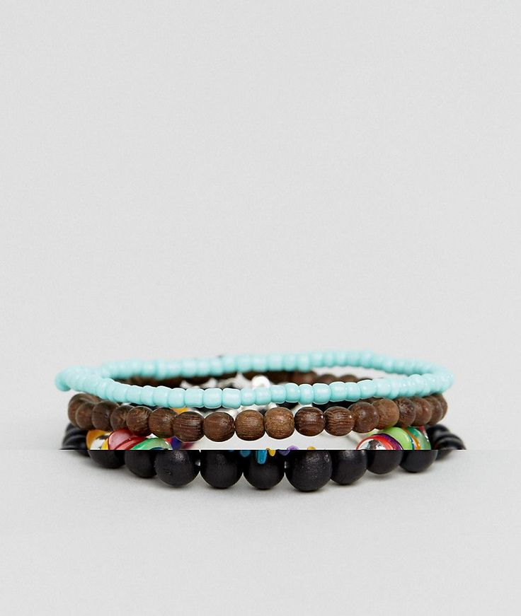 ASOS Multi COLORED Beaded Bracelet Pack - Multi