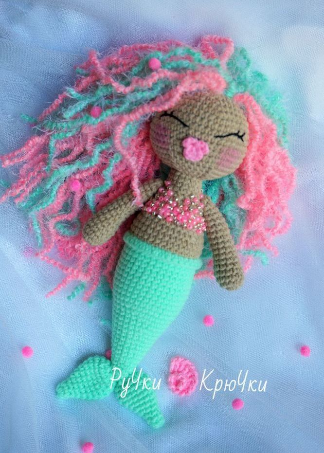 Mermaid Amigurumi Crochet Doll - Free English Pattern
