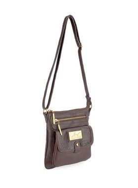 a531b1935 Bolsa transversal feminina de couro café - Enluaze | Bolsas e acessórios de  couro