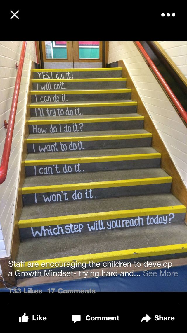 Growth mindset stairs                                                                                                                                                      More