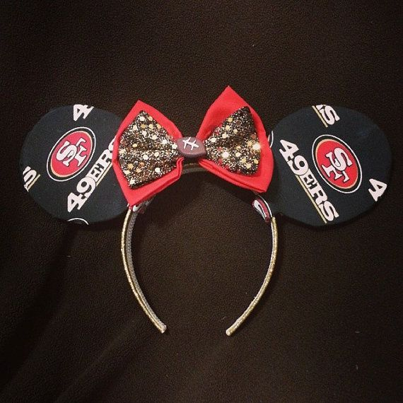 San Francisco 49ers Minnie Mouse Ears by BoozeNJewelz on Etsy, $13.00  Quest for Six