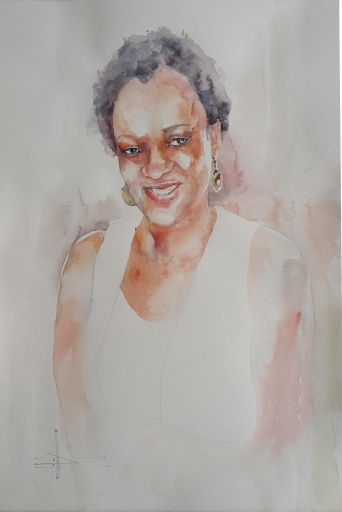 Ruth #watercolour #portrait