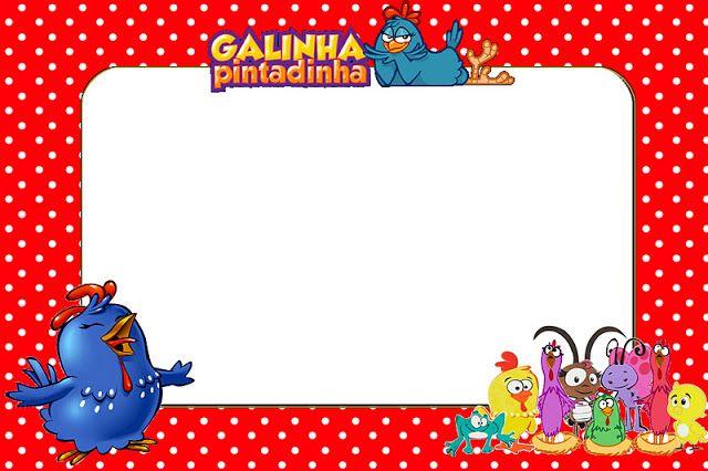 Galinha Pintadinha em Vermelho e Branco com Bolinhas – Kit Completo com molduras para convites, rótulos para guloseimas, lembrancinhas e ima...