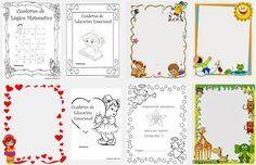 Caratulas para cuadernos Imágenes Imprimir Dibujos Fotos Niños Matemática Lengua