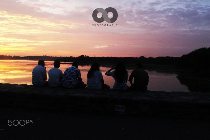 Colors of sunset with Friends - The colorfull sunset view with friends..