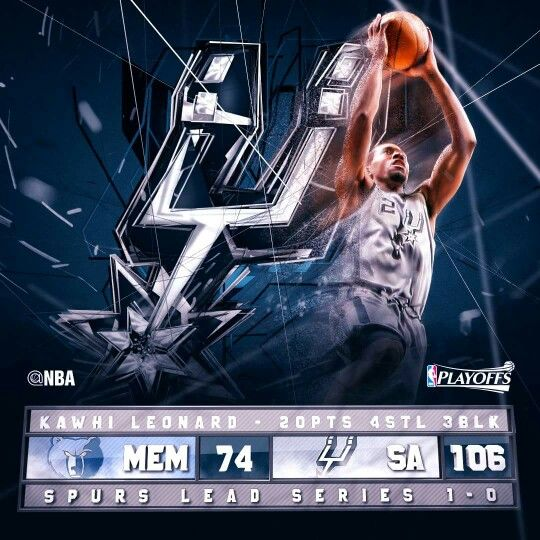 Kawhi Leonard stats in the game one playoff series home win over the Grizzlies in San Antonio.