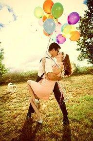 presh!: Helium Balloon, Photos Ideas, Fun Engagement Pictures Ideas, Engagement Photos Shoots, Engagement Pics, Couple Shoots, Theme Photos Shoots, Engagement Shoots, Engagement Photos Balloon