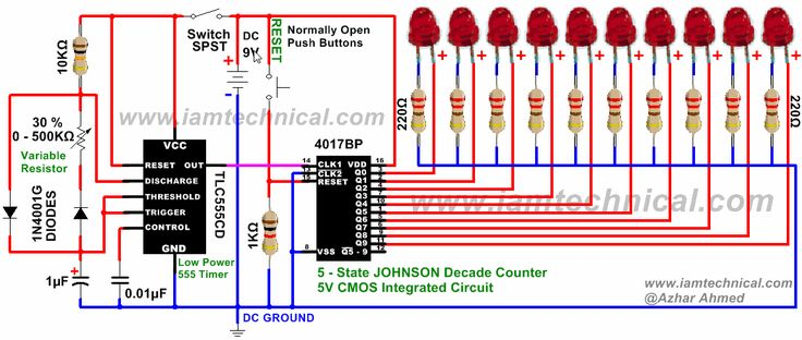 555 timer clock pulses 4017 johnson decade counter with led lamp wiring diagram led lamp wiring diagram led lamp wiring diagram led lamp wiring diagram