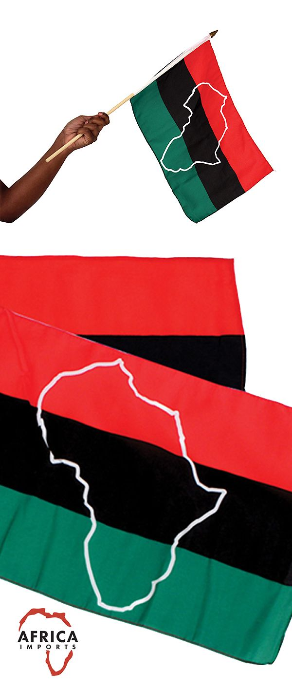 African Flag The Flag Of The African Nation Combines The Most Popular Colors From All Of Th African American Flag Celebrate Black History Month Black And Red