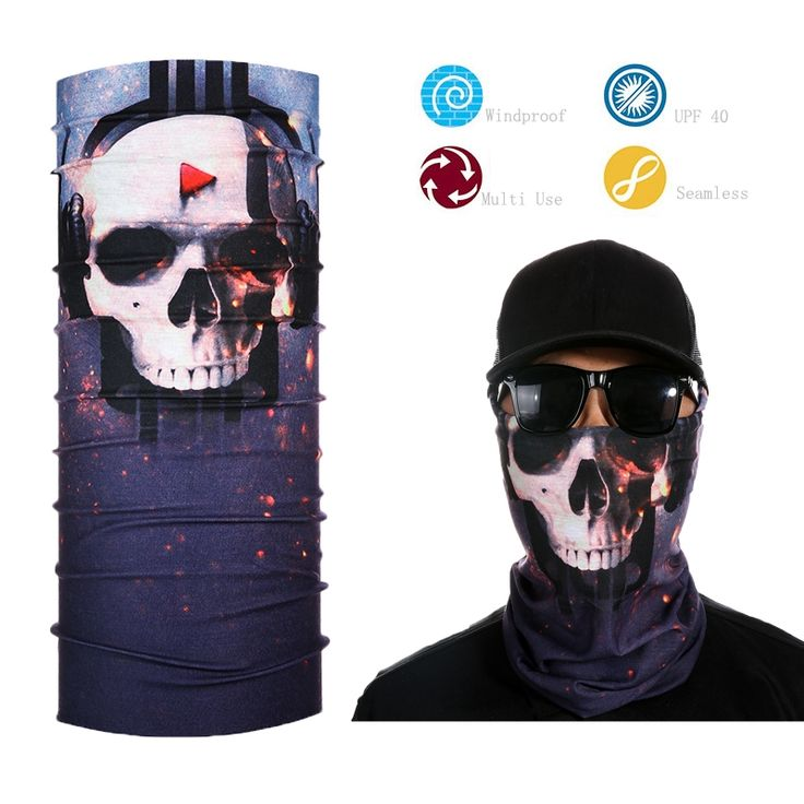 Men's Skull Bandana Handkerchief Skeleton Face Mask