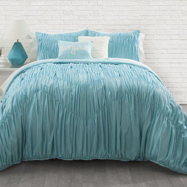 All sizes Hudson Blue Luxury 6-8 Piece Comforter Set Skirt Shams and Pillows