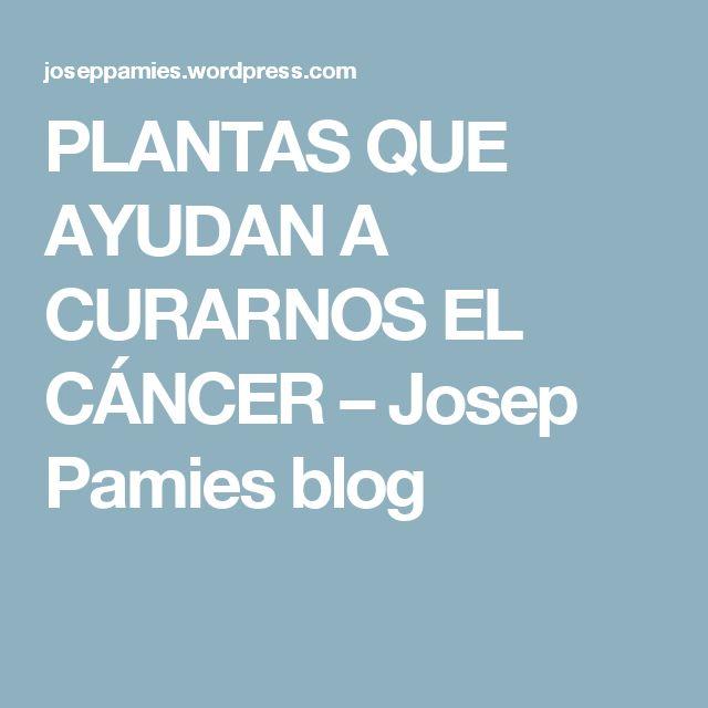 PLANTAS QUE AYUDAN A CURARNOS EL CÁNCER – Josep Pamies blog