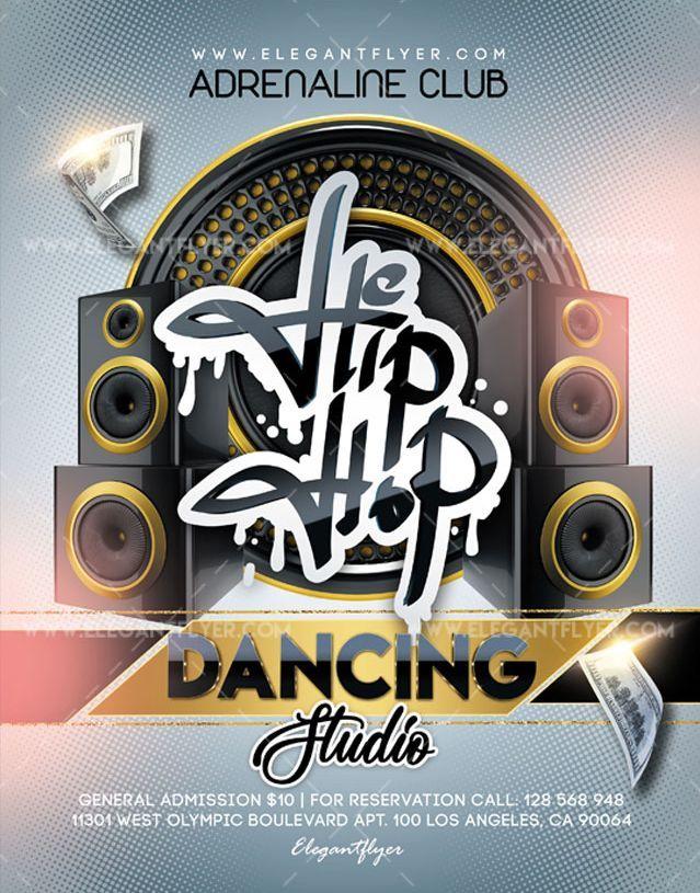 Hip Hop Dancing Studio Free Psd Flyer Template Free Psd Flyer Templates Free Psd Flyer Flyer Template