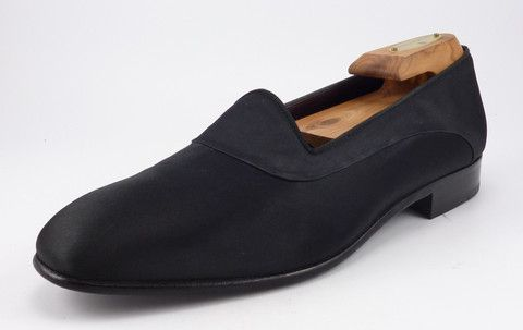 c6dc4335ff73 Magnanni sz 8.5 Satin Tuxedo Loafers 6002 Mens Black fits US 8.5 ...