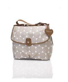View details of Babymel Satchel Jumbo Dot Change Bag- Fawn