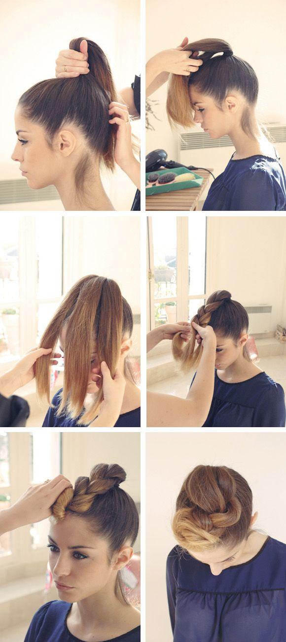 Best A Nos Crinières Hair Images On Pinterest Casual - Diy chignon boheme