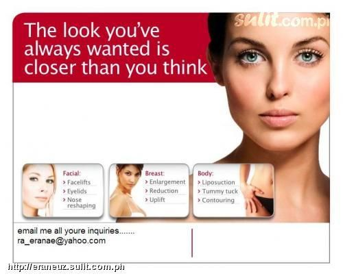 Image result for plastic surgery advertisement
